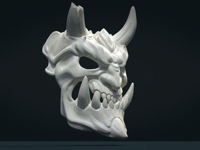 demon mask 2 3d model obj mtl fbx stl blend 1