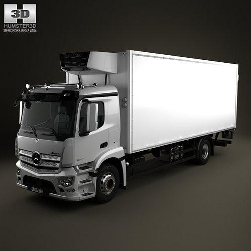 Mercedes benz antos box truck 2012 3d model max obj 3ds for Mercedes benz truck models