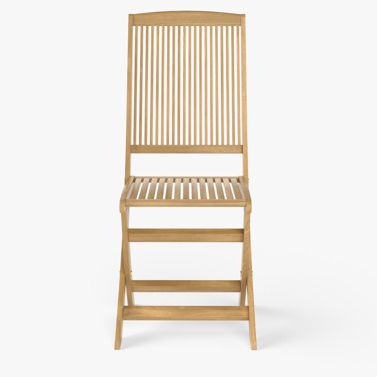 Wooden Chair 3d Model Max Obj Fbx C4d