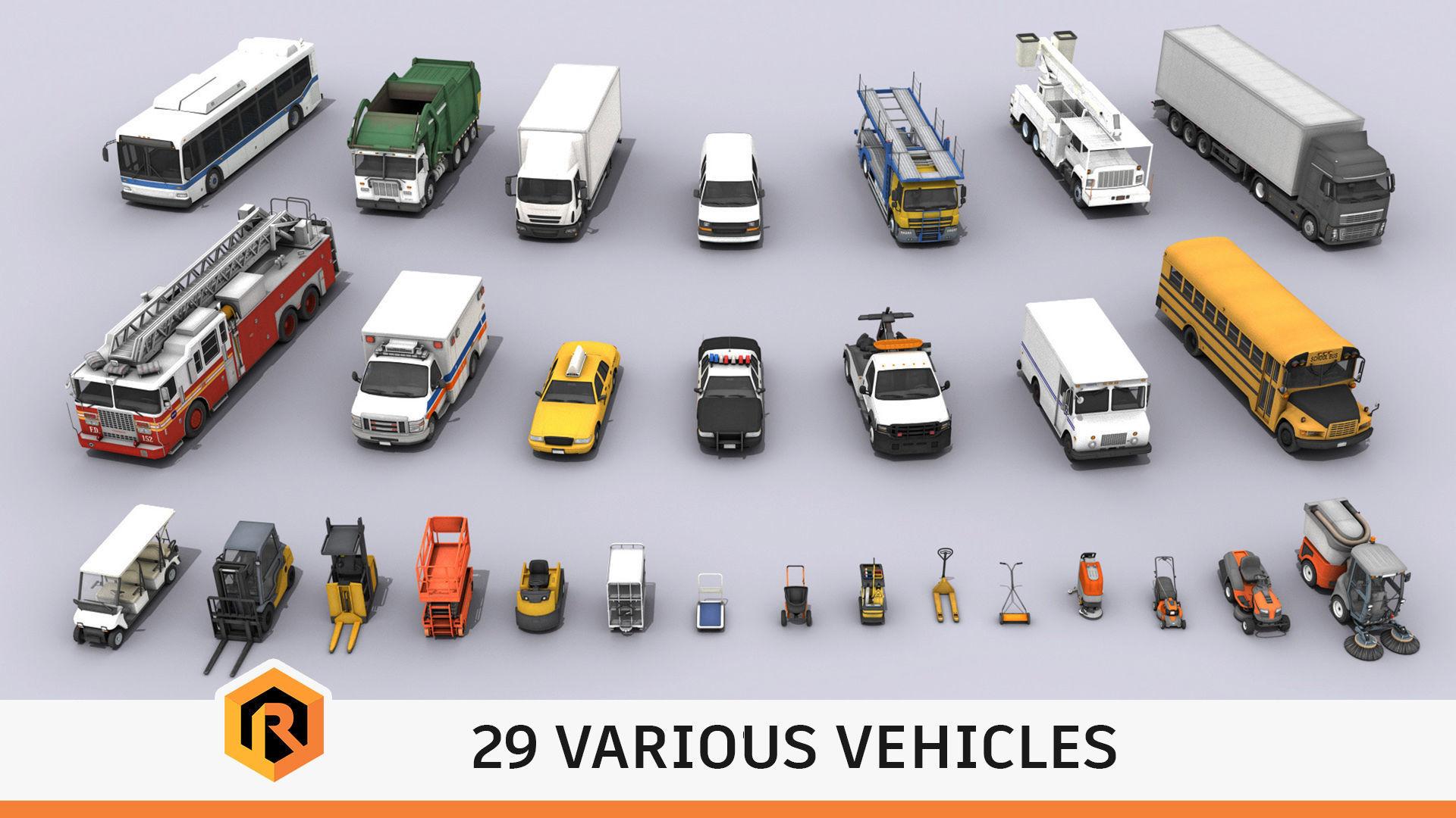 29 HQ Vehicles - Mega Collection