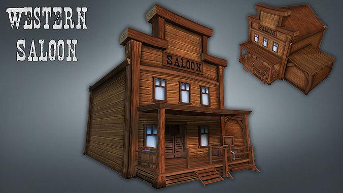 3D model Western Saloo...