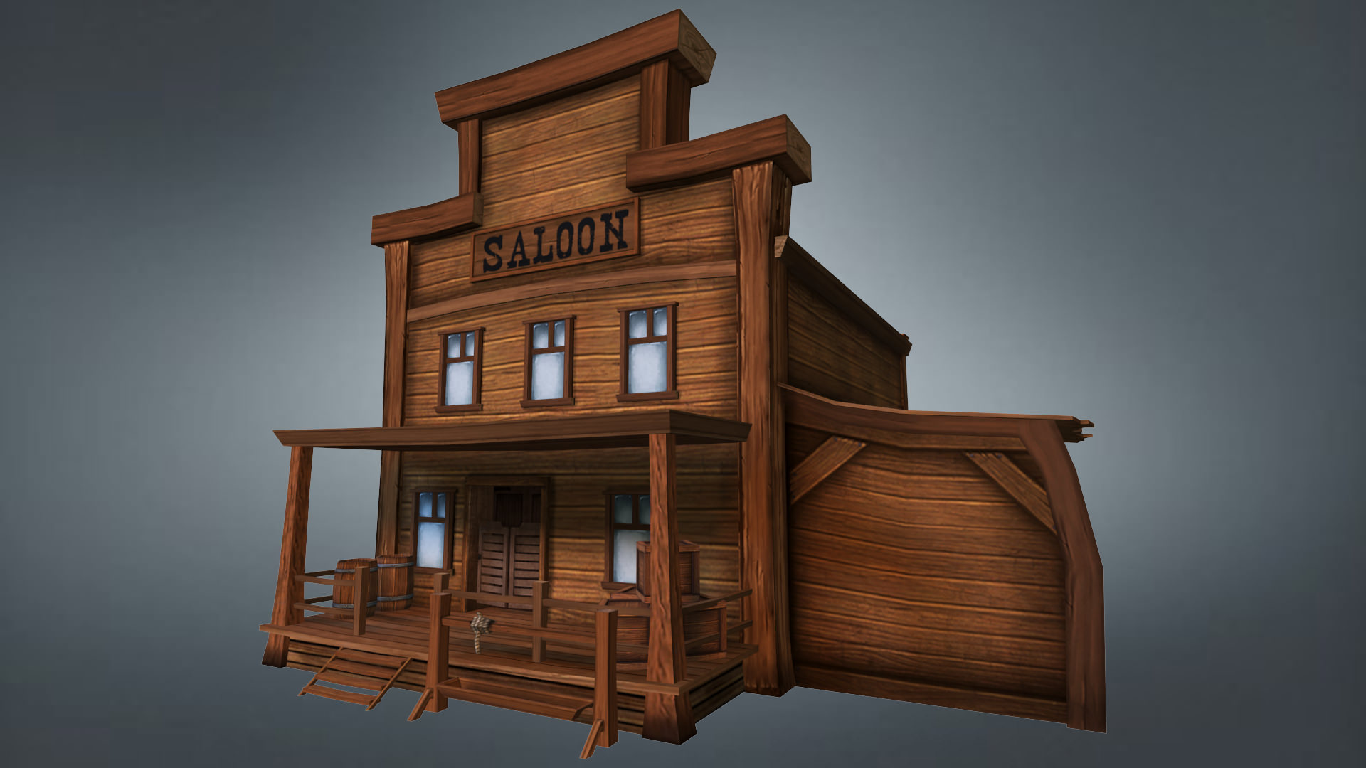 Western Saloon 3D Mode...