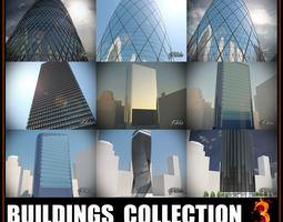 Buildings collection 3 3D asset