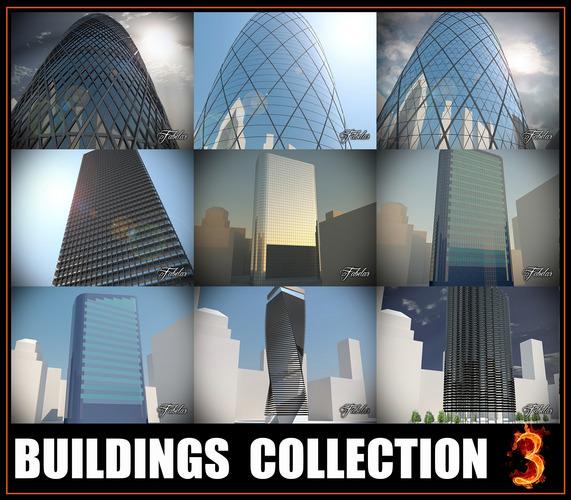 Buildings collection 33D model