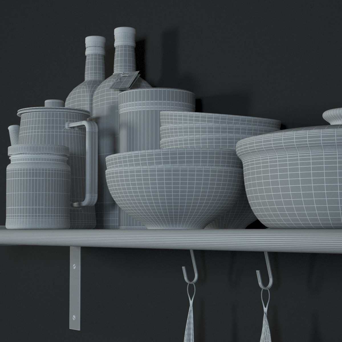ikea grundtal wall shelf 3d model max. Black Bedroom Furniture Sets. Home Design Ideas