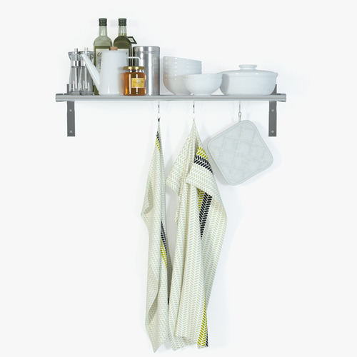 Grundtal Ikea Kitchen Shelf ~ IKEA Grundtal Wall Shelf 3D Model max  CGTrader com