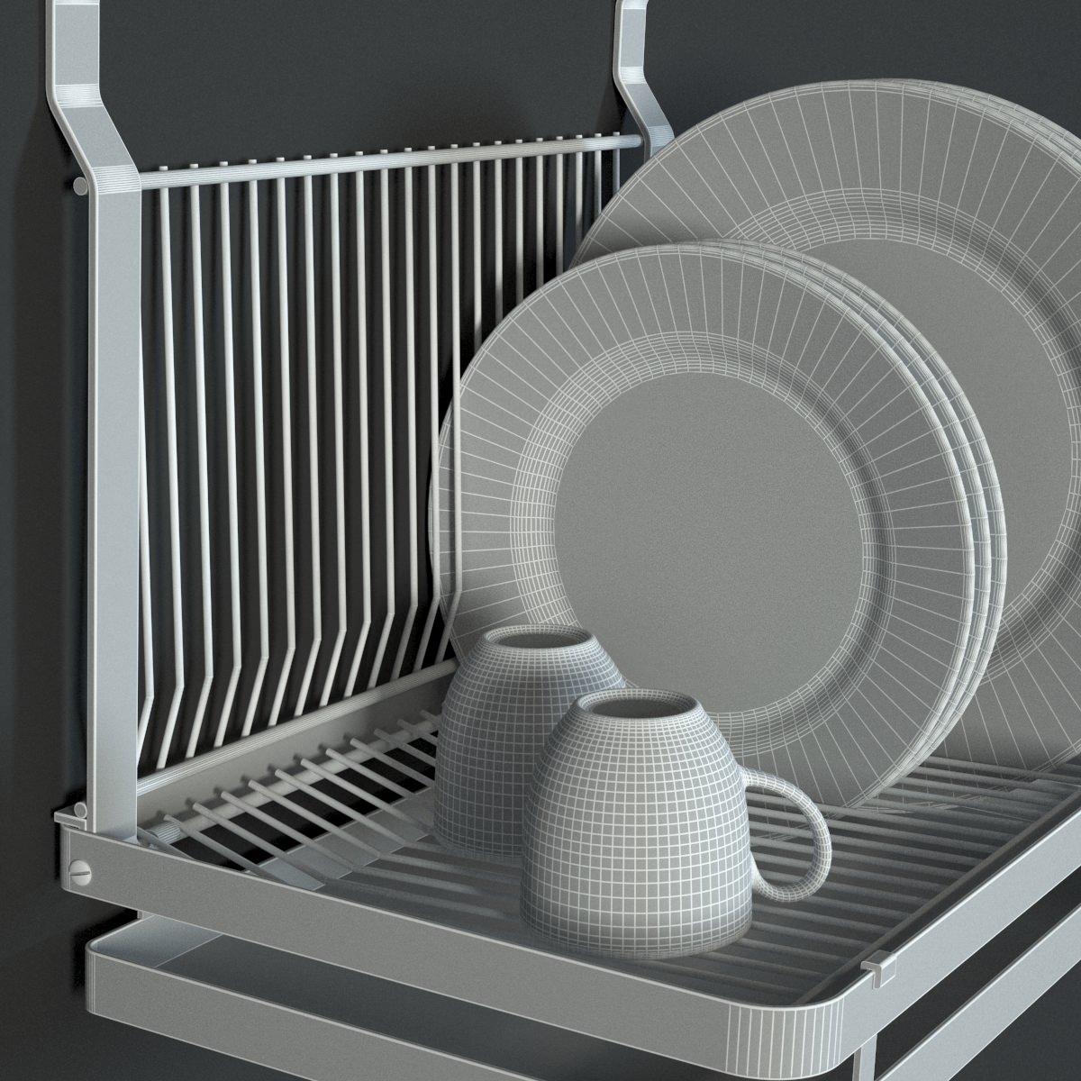Ikea Variera Door Mounted Storage ~ ikea grundtal dish drainer 3D Models  CGTrader com