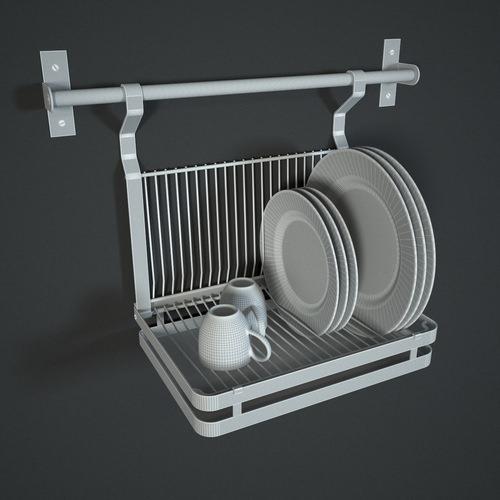 Ikea grundtal dish drainer 3d models - Dish chair ikea ...