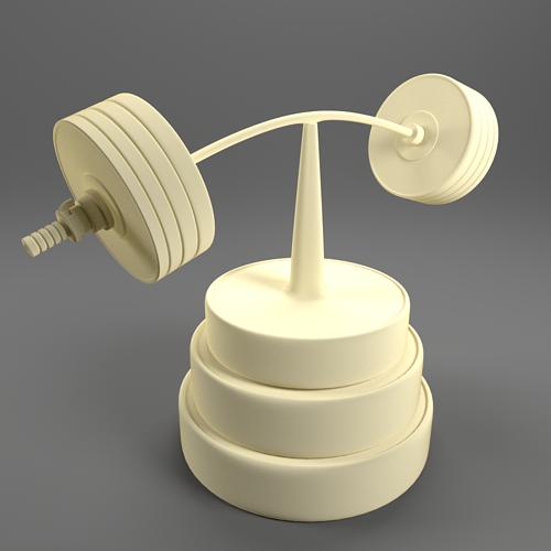barbell figure 3d model stl 1
