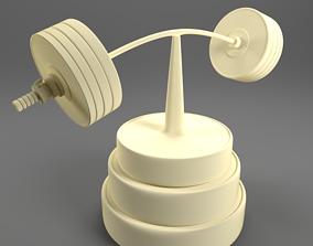 3D print model Barbell figure