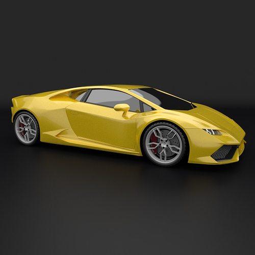 Lamborghini Huracan Racing Car Restyled 3d Cgtrader