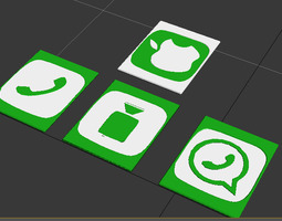 Iphone App Coasters 3D print model