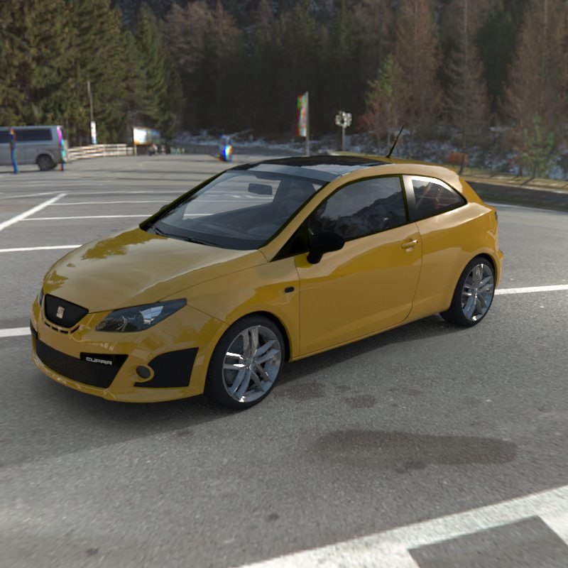 seat ibiza cupra 2009 model 3d model max obj. Black Bedroom Furniture Sets. Home Design Ideas