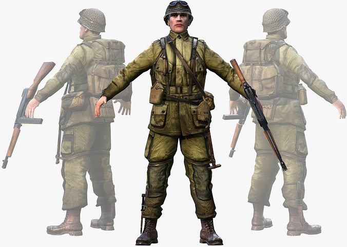 3D asset WWII American Soldier | CGTrader