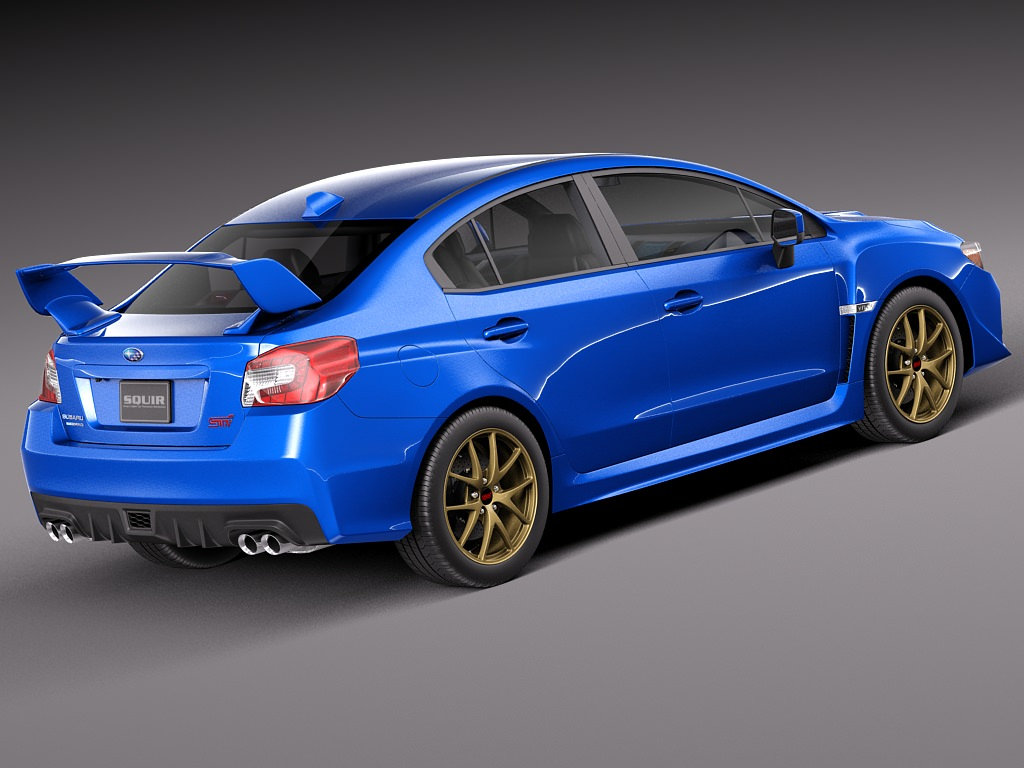 subaru impreza wrx sti 2015 3d model max obj 3ds fbx c4d lwo lw lws. Black Bedroom Furniture Sets. Home Design Ideas