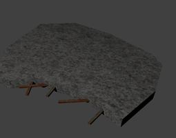 Destroyed Concrete 3D asset