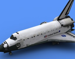 Space Shuttle Discovery orbiter 3D