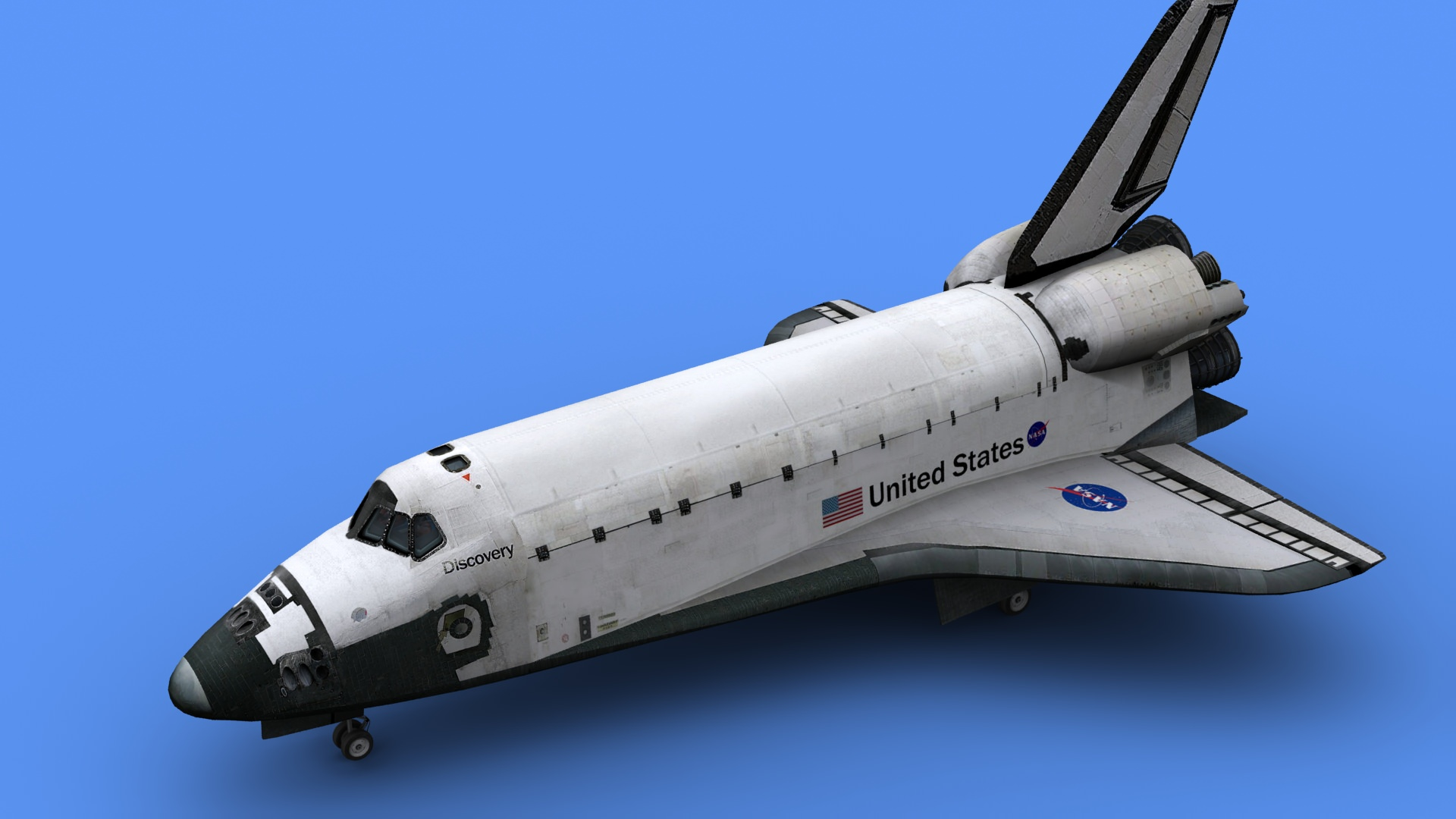 discovery space shuttle model -#main
