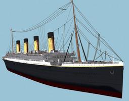 RMS Titanic White Star Liner ship 3D model watercraft