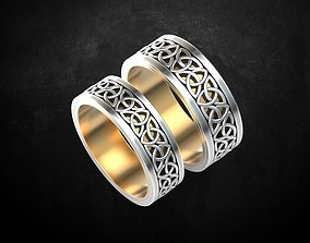 3D printable model Wedding ring love the pair