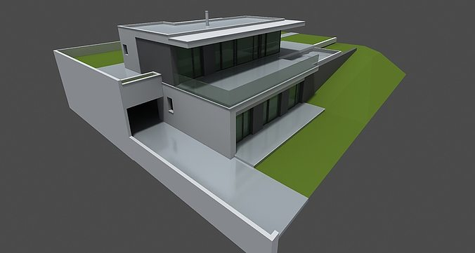 modern home 3d 3d model max obj 3ds 1