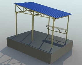 Metal shed 3D asset