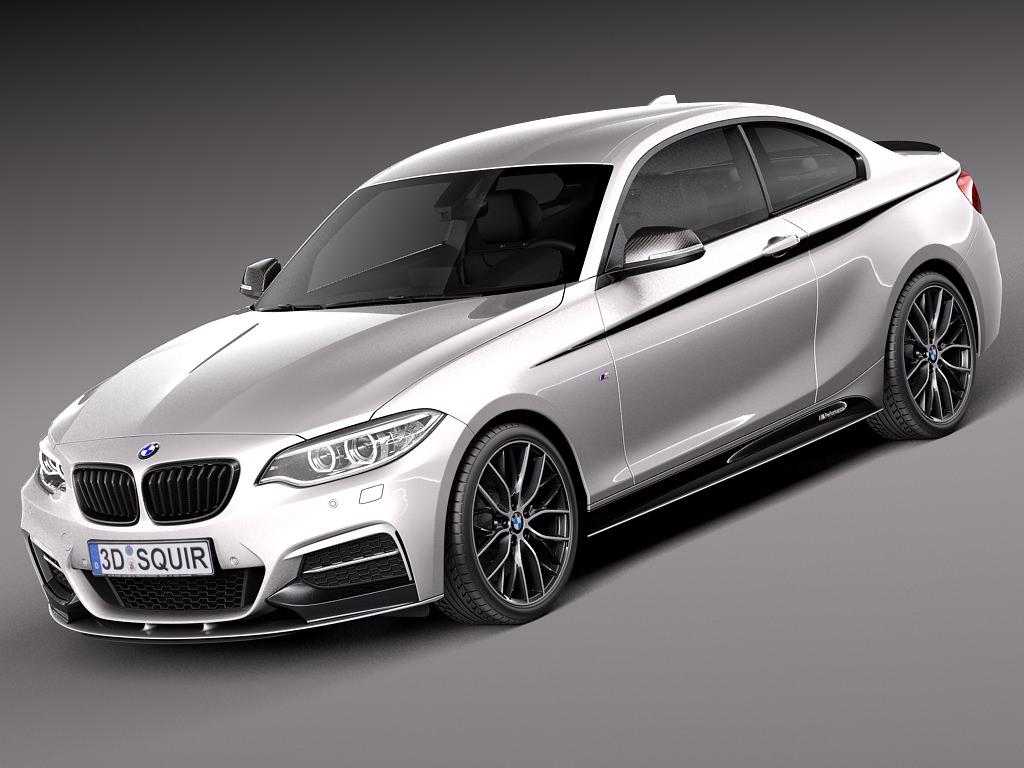 BMW 2-series M-power Coupe F22 2014 3D Model .max .obj ...