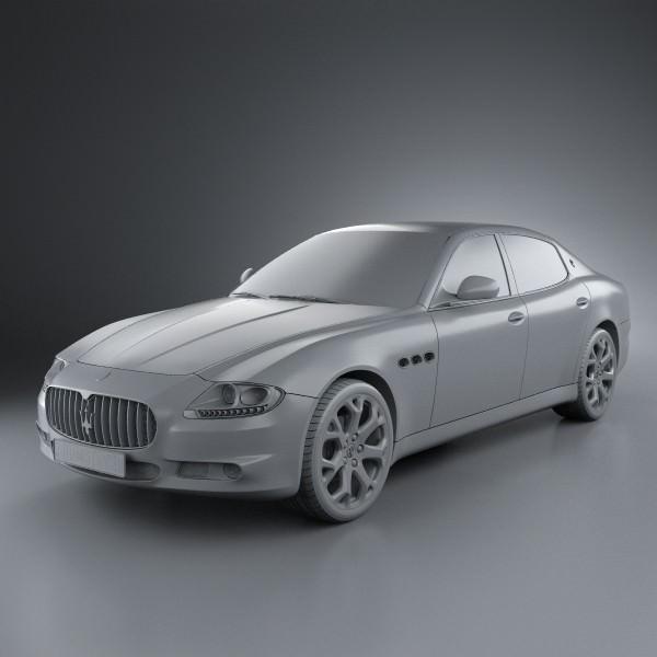 Maserati quattroporte 2011 3d model max obj 3ds fbx c4d for Porte 3ds max