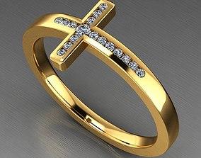 Cross Diamond Ring RD0199 3D printable model