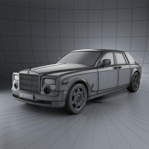 rolls-royce phantom 2011 3d model max obj 3ds fbx c4d lwo lw lws 11