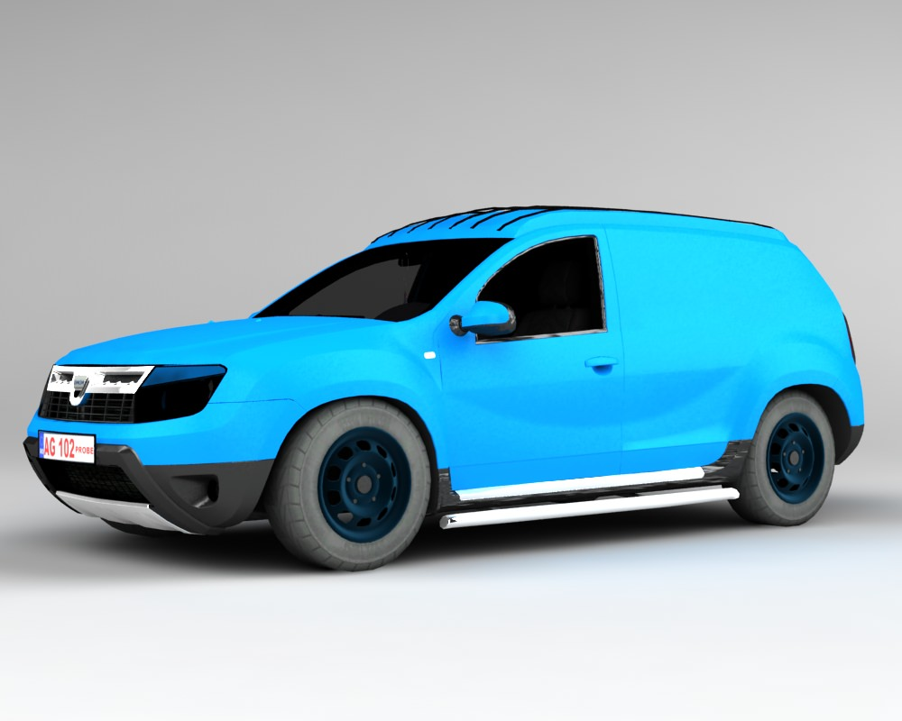 dacia duster van 3d model game ready rigged max. Black Bedroom Furniture Sets. Home Design Ideas