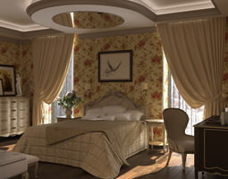 Savio Firmino Bedroom Full Scene 3D