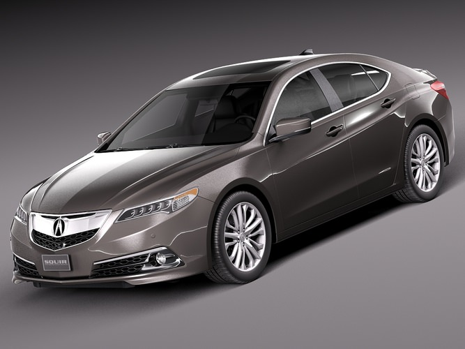 Acura TLX 2015 3D Model .max .obj .3ds .fbx .c4d .lwo .lw