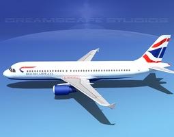 Airbus A320 LP British Airways 3D Model