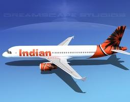 Airbus A320 LP Air India 3D Model