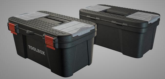 Toolbox animation ready3D model