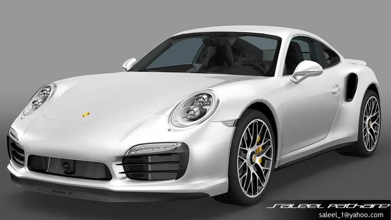 porsche 911 turbo s 2014 3d model max obj 1