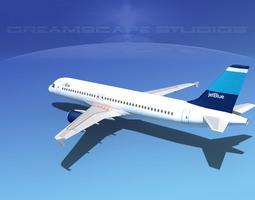 Airbus A320 LP Jet Blue 3D Model