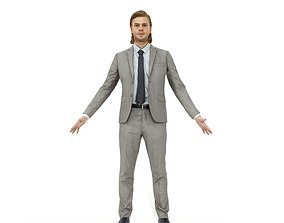 Full-body business woman and man pack 3D asset