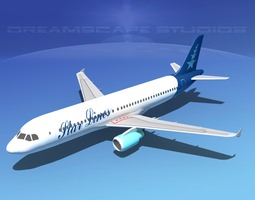 Airbus  A320 LP Star Lines 3D Model