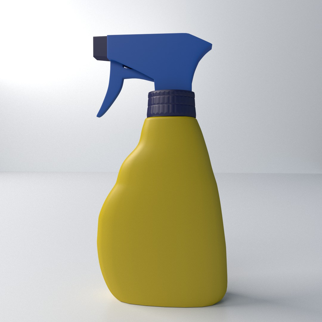 3d Model Spray Bottle Cgtrader