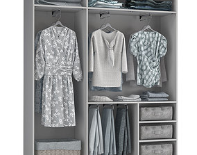pants Wardrobe with Clothes 3D