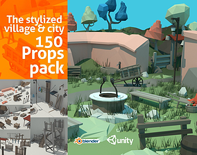 The Village and City Exterior Props Pack 3D model