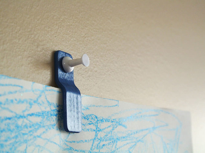 3d Print Model Wall Mount Paper Clip Cgtrader