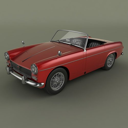3d Model Mg Midget Mk1 Cgtrader