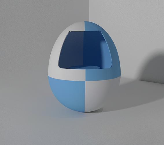 3d printable egg stash 3d model stl blend 1