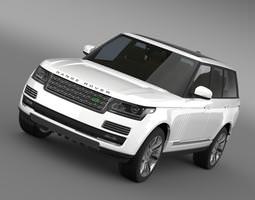 3d model range rover autobiography black l405 2014