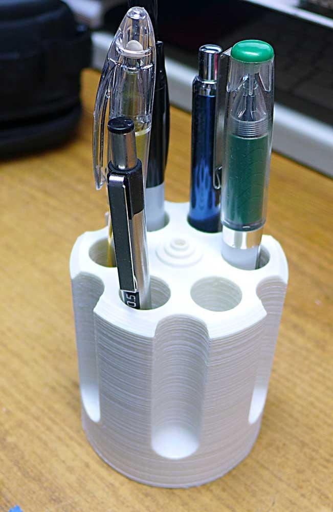 6 Shooter cylinder pen pencil holder