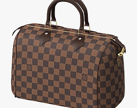 3D model Louis Vuitton Speedy Bag Checker Brown