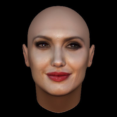 angelina jolie face model with makeup 3d model obj mtl